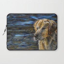One Wet Golden Retriever by Teresa Thompson Laptop Sleeve