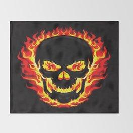 Flame Skull Throw Blanket