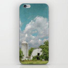 White Barn and Blue Sky iPhone Skin