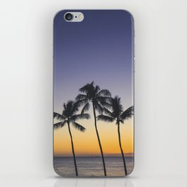 Palm Trees w/ Ombre Tropical Sunset - Hawaii iPhone Skin