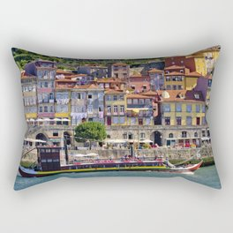 Ribeira houses, Oporto Rectangular Pillow