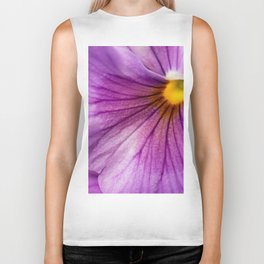 Purple Pansy Flower Close-up #decor #society6 #buyart Biker Tank