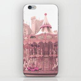Paris Nursery, Blush, Carousel iPhone Skin