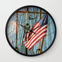 Sailing Ship Flag Wall Clock