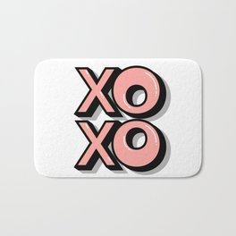 XOXO Hugs & Kisses Bath Mat