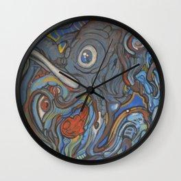 Elephant VS Giraffe (resized) Wall Clock