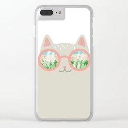 va-CAT-ion Clear iPhone Case