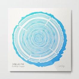 Douglas Fir – Blue Ombré Metal Print