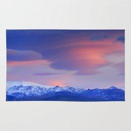 Lenticular clouds over Sierra Nevada National Park Rug