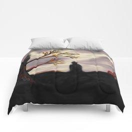 Dark Forest Scene Comforters
