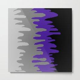 Splash of colour (purple & gray) Metal Print