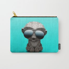 Cute Baby Honey Badger Wearing Sunglasses Carry-All Pouch