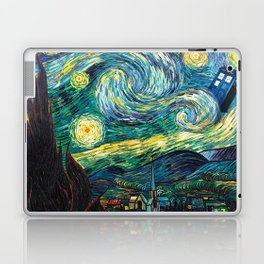 Tardis Art Starry Painting Night Laptop & iPad Skin