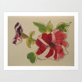 Stripey Petunia Art Print
