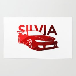 Nissan Silvia S15 - classic red - Rug