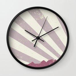 Town Silhouette Grunge Wall Clock