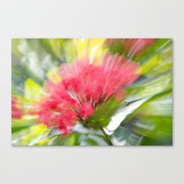 Flower Burst - Electric Magenta Canvas Print