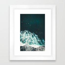 WAVES - OCEAN - SEA - WATER - COAST - PHOTOGRAPHY Framed Art Print