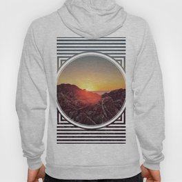 Peel Sunset  - line/circle graphic Hoody