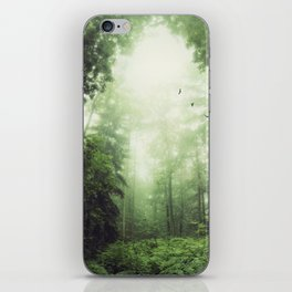 German Jungle - Forest in Morning Mist iPhone Skin