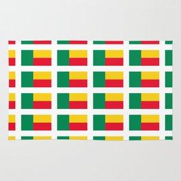 Flag of benin-beninese,beninois,benines,dahomey,fon,yoruba,Cotonou,Fula Rug