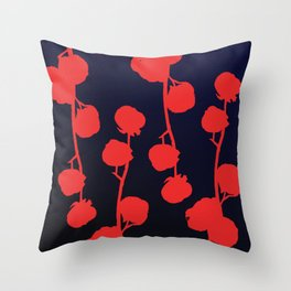 Cotton flower abstract Throw Pillow