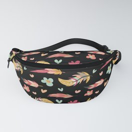 FEATHERS AND FLOWERS Fanny Pack