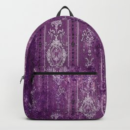 Damask - Deep Purples & White - Boho Backpack
