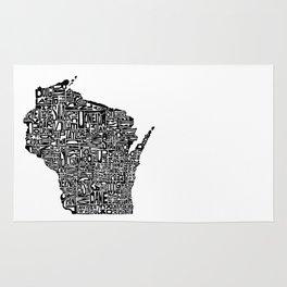 Typographic Wisconsin Rug
