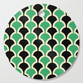 Classic Fan or Scallop Pattern 447 Black and Green Cutting Board