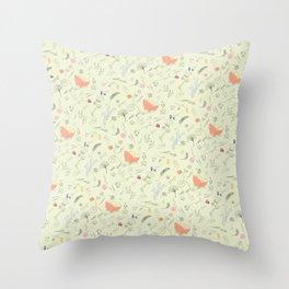 Woodland Wonders (Cilantro) Throw Pillow