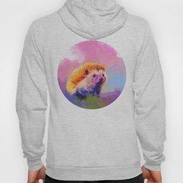 Sweet Hedgehog, cute pink and purple animal painting Hoody