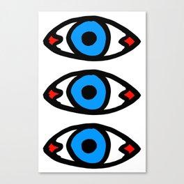 Three Open Eyes Canvas Print