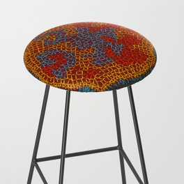 Growing - Lamium - plant cell embroidery Bar Stool