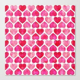 RUBY HEARTS Canvas Print