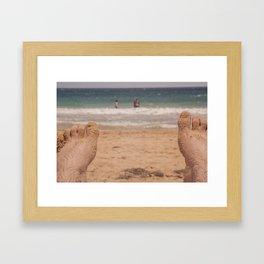 POV of Condado Beach, Puerto Rico Framed Art Print
