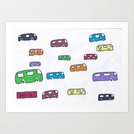 Bus-y Art Print