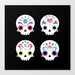 Cute sugar skulls B Canvas Print
