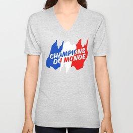 World Champions French Soccer Football Unisex V-Neck