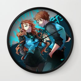 Pines Twins Wall Clock