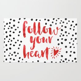 Follow Your Heart Quote Rug