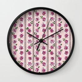 sweet roses rockabilly style Wall Clock