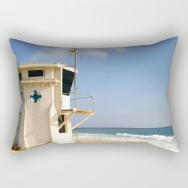 Laguna Beach Lifeguard Tower Rectangular Pillow