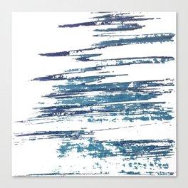 Streaky Blue Water Canvas Print