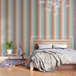 striped color pattern - red , orange, grey, green, Wallpaper