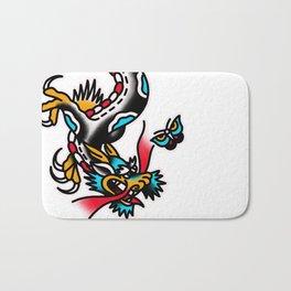 American traditional dragon Bath Mat