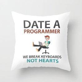 Date A Programmer Throw Pillow