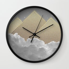 Silence is the Golden Mountain Wall Clock