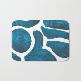 Circle & Stuffs, Abstract, Blue Duck Bath Mat