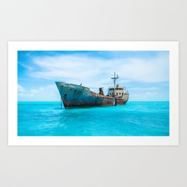 Shipwrecked in Paradise Art Print